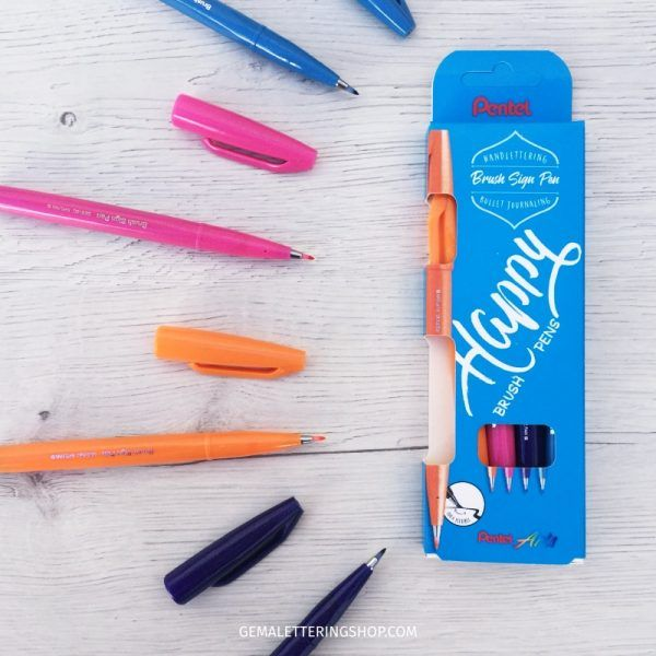 rotuladores pentel touch happy