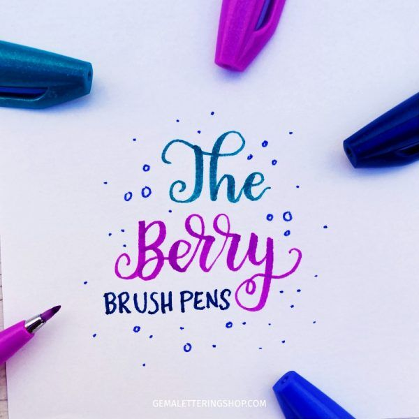 Rotuladores pentel touch - Berry
